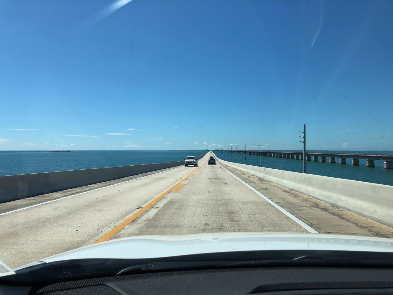 Driving Florida's epic Overseas Highway, across the Florida Keys to KeyWest.