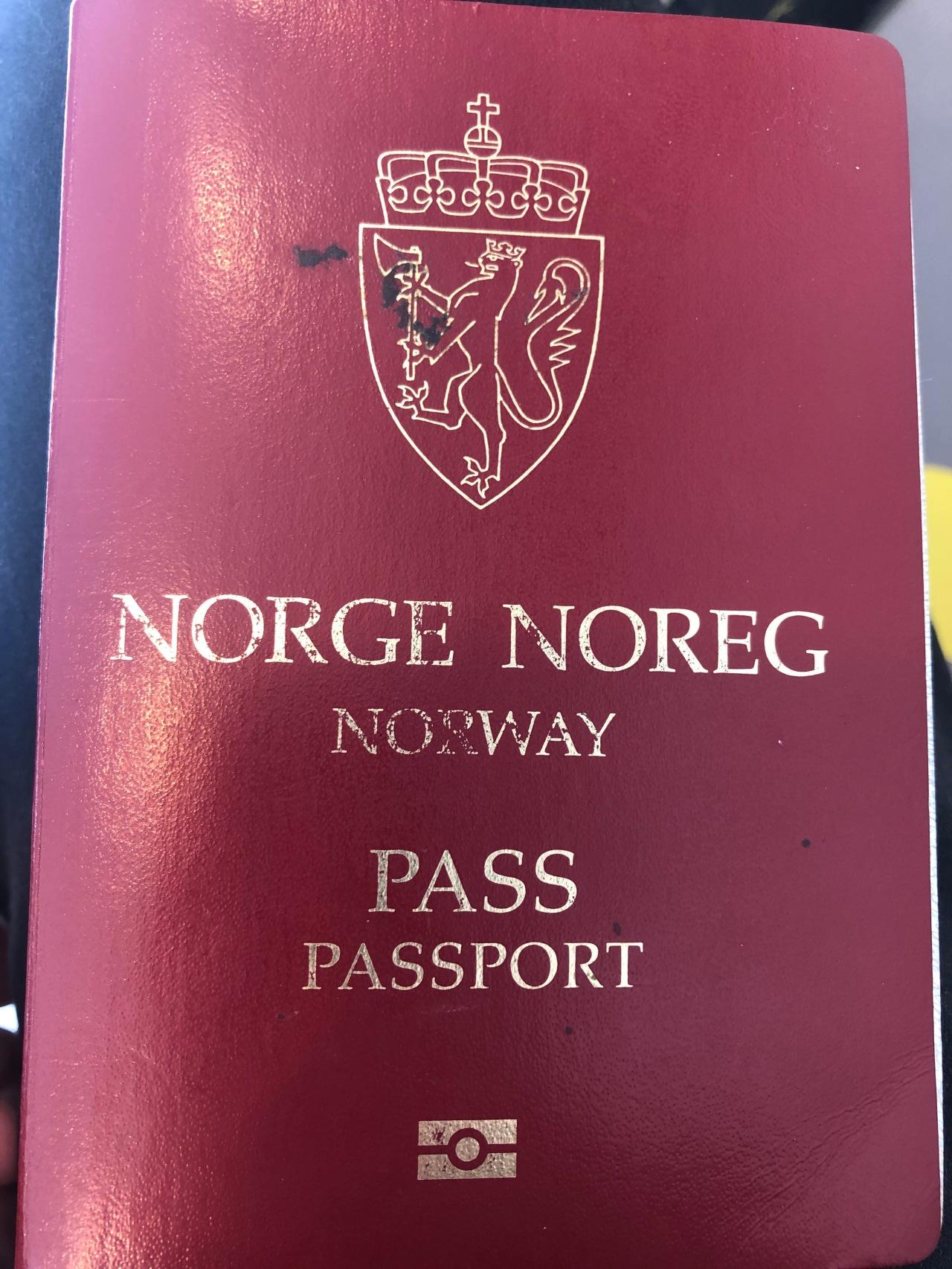 Ode To My Old NorwegianPassport